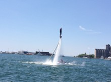 il flyboard in volo